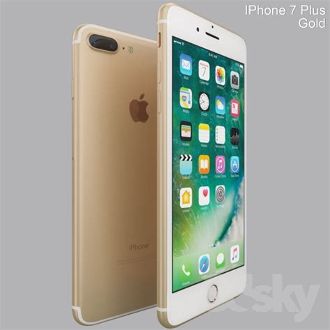 3d models phones iphone 7 plus gold