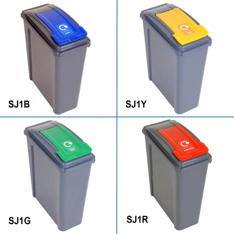 L Recycling by 25 L Compartment Recycling Recycle Bin Green Flip Lid Ebay
