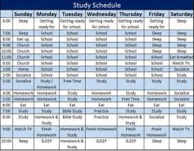 study schedule template 5 free templates schedule