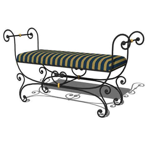 small wrought iron bench wrought iron small bench 3d model formfonts 3d models