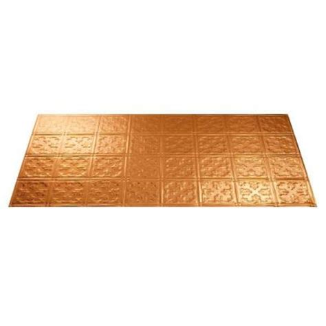 Copper Ceiling Tiles Home Depot by Fasade Traditional 10 2 Ft X 4 Ft Polished Copper Lay In