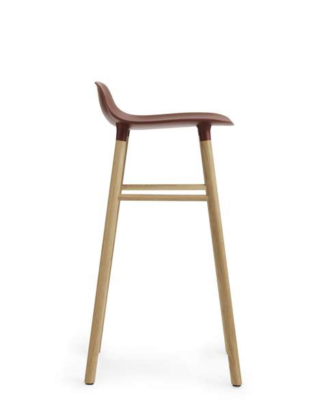 Stool Form by Form Bar Stool Black Oak 65cm Seat By Normann Copenhagen