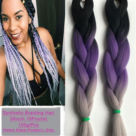 grey and purple box breads 1000 ideas about purple box 24 quot 100g purple ombre braiding hair for box braid hair 1