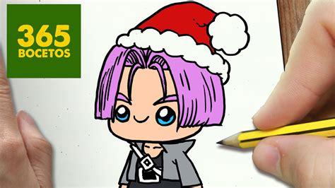 imagenes kawaii de dragon ball z como dibujar a trunks para navidad paso a paso dibujos