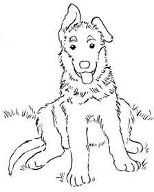 german shepherd coloring pages german shepherd puppy coloring page bell