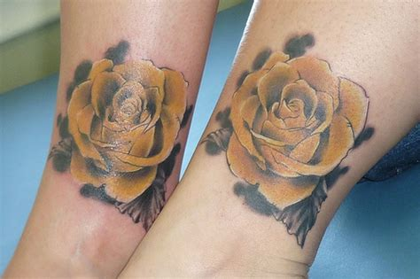 amazing couple tattoos amazing yellow for leg