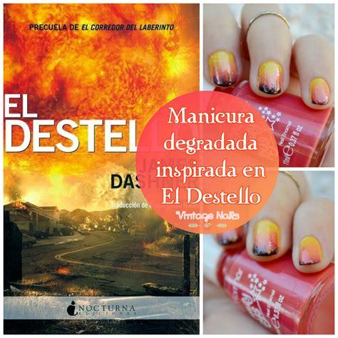 el destello manicura degradada inspirada en el destello vintage nails