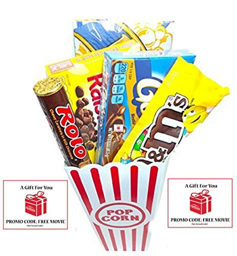 Movie Rental Gift Cards - movie night popcorn candy and redbox movie gift basket includes movie theater