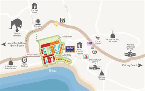 kamala resort map kamala resort 4 phuket thailand