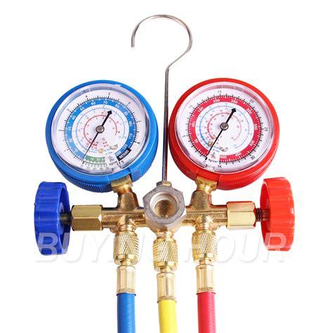r134a r12 r22 ac a c manifold set 5ft colored hose