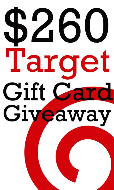 Target Gift Card Sweepstakes - 260 target gift card giveaway