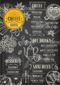 coffee shop menu template free coffee cafe menu template design stock vector
