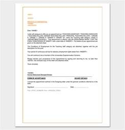 Appointment Letter Format Teacher Teacher Appointment Letter 9 Sample Example Word Pdf