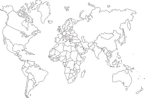 printable world maps outline world map