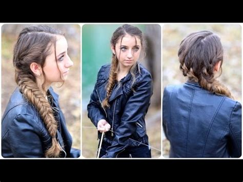 hunger games hairstyles prim katniss mockingjay braid hunger games hairstyles youtube