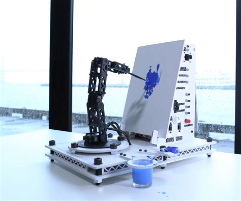 spray painting robot project pointillist painting robot arm