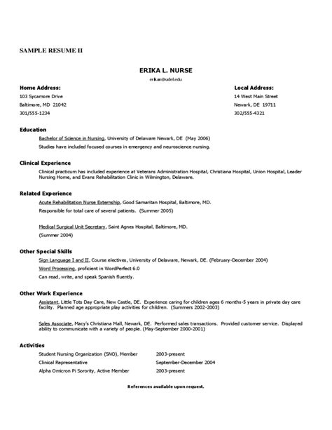 Rn Rehab Resume Registered Resume Sle Free