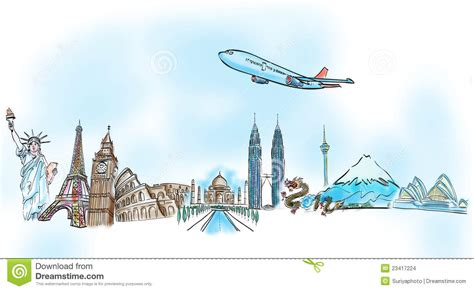 design a dream vacation webquest drawing the dream travel aroun the world stock photo