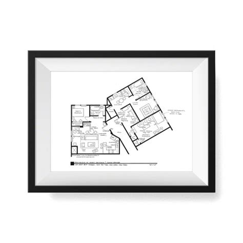 seinfeld apartment floor plan fantasy floorplans tv show sets touch of modern