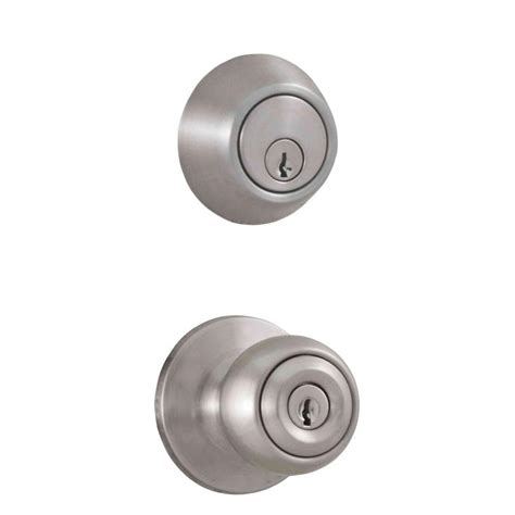 Deadbolt With Knob by Weslock Premiere Essentials Combo Single Cylinder Deadbolt