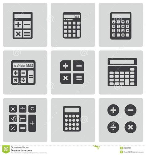 format eps figure vector black calculator icons set stock photography