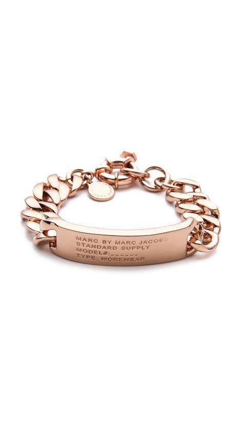 Marc by marc jacobs Standard Supply Id Bracelet in Metallic   Lyst