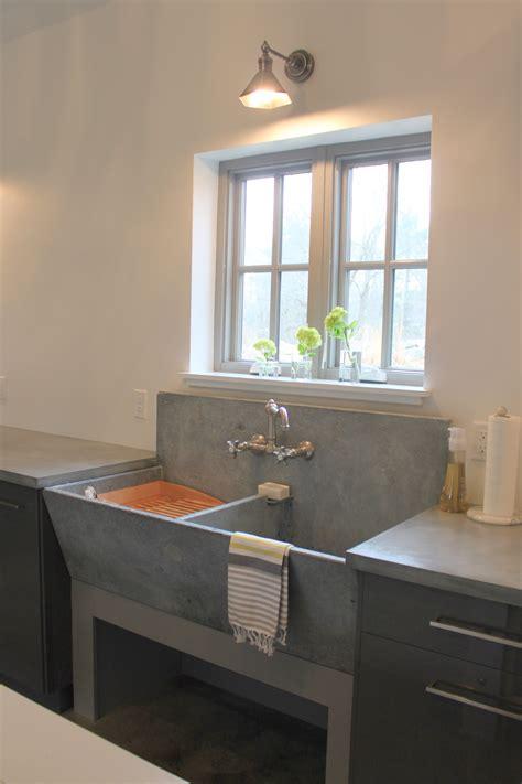 vintage concrete laundry sink   laundry room