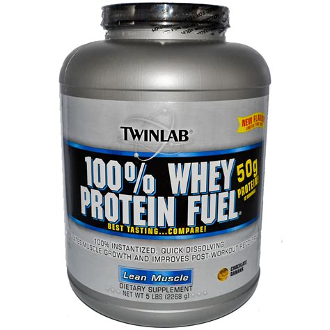 100 Whey Protein Fuel twinlab 100 whey protein fuel lean chocolate banana 5 lbs 2268 g iherb