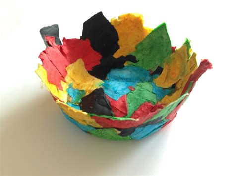 Paper Mache Craft Ideas - easy papier mache bowl my kid craft