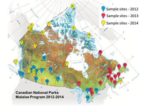 canadian national parks map barcoding canada starting with its national parks biobus