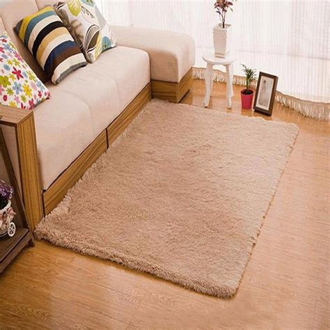 fluffy rug anti skid shaggy dining room home