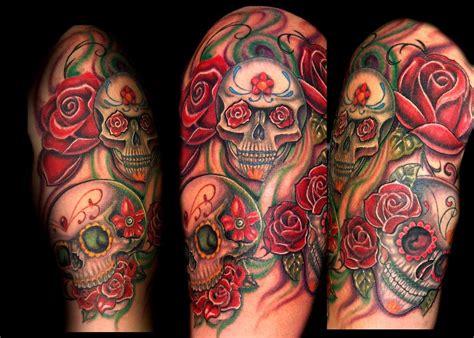 rose and skull sleeve tattoos sleeve tattoos page 9