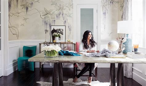 office in the home home office fashion designer rachel roy erika brechtel