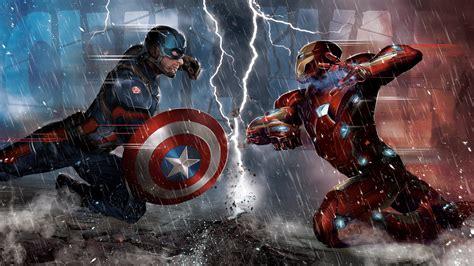 wallpaper captain america vs iron man captain america vs iron man 2016 4k uhd 16 9 3840x2160