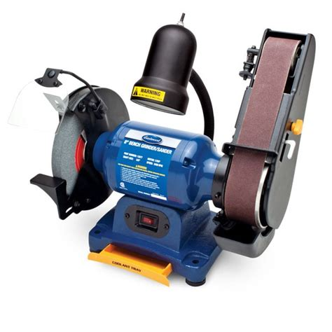 bench belt sander reviews eastwood 1 2hp 8in combination bench grinder and belt sander