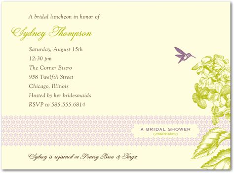 Wedding Invite Present Wording by Wording For Bridal Shower Invitations No Registry Mini