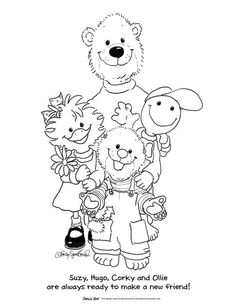 Suzy S Zoo 174 Official Site Suzy S Zoo Fun Stuff Suzy S Zoo Coloring Pages