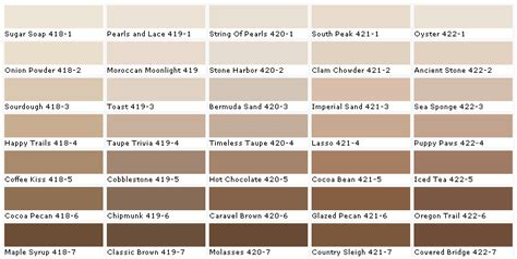 lowes brown color chart images country lowes paint colors and colors