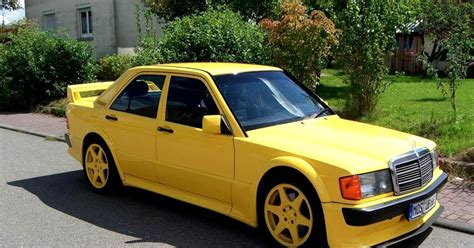 mercedes 190e evolution yellow w201 benztuning