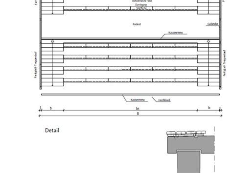 technische zeichnung treppe tiefbau system technik produktdetails