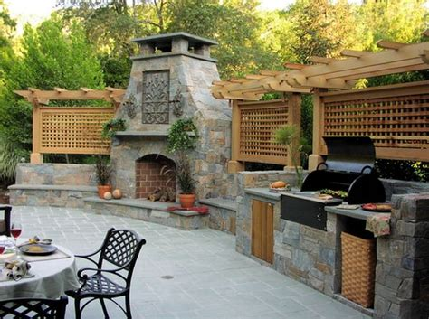 Patio Ideas Grill Outdoor Kitchen Designs Featuring Pizza Ovens Fireplaces