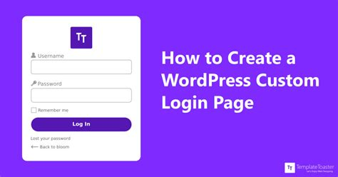 create blog page template wordpress how to create a custom login page