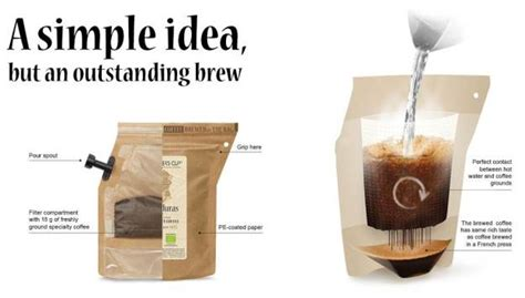 Disposable Bag Is Actually A Single Brew French Press   PSFK