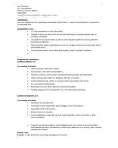 excellent accountant assistant clerk resume exle