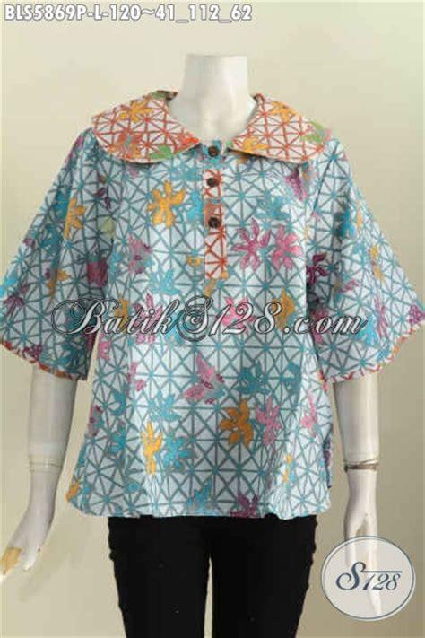Celana Batik Wanita Modern 120 Iu baju blus modern kerah bulat pakaian batik cewek terkini bahan halus proses printing harga 120