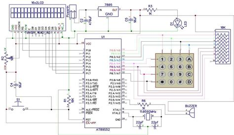 electronic code lock circuit diagram electronic get free