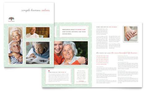 senior care services brochure template design