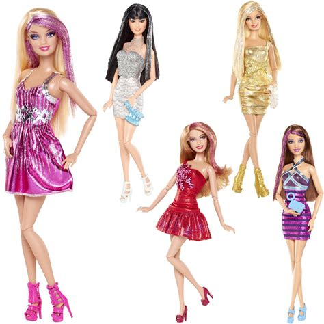 Set 3 Dolls Fashionistas fashionistas doll glitter streaked hair trendy accessories 30cm 3 ebay
