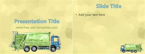 waste management powerpoint template waste management ppt template free powerpoint templates