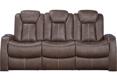 rooms to go power reclining sofa power reclining sofa and loveseat crestline chocolate